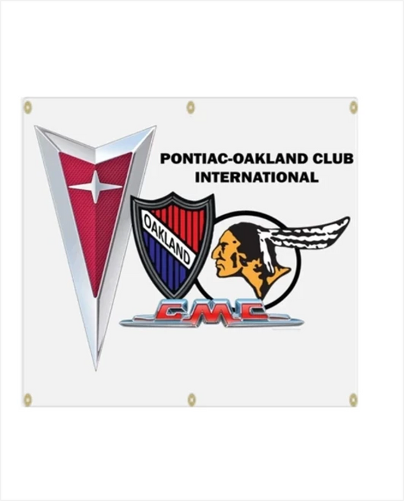 POCI NEW logo Pontiac Oakland Club International Garage Banner