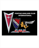 POCI NEW logo Pontiac Oakland Club International Harrington cotton blend polo