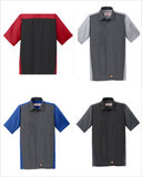 Chevrolet 40's Bowtie Red Kap Short Sleeve Two-Tone Mechanic Shirt