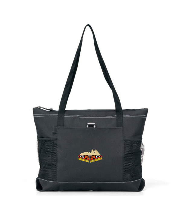 GREATER PITTSBURGH GTO CLUB Embroidered Nylon Denier durable zippered tote