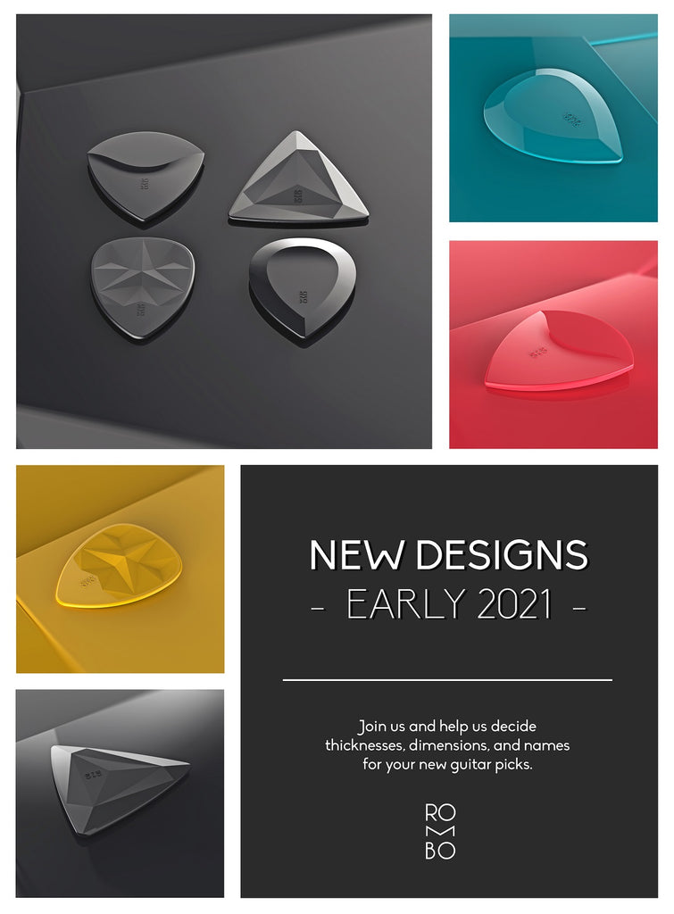 Guitar Picks New Designs