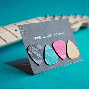 guitar pick set rombopicks classic coloured