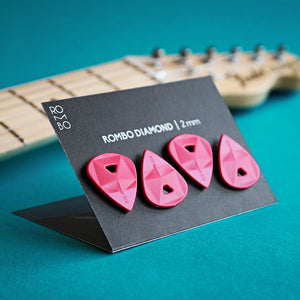 guitar pick set rombopicks diamond red