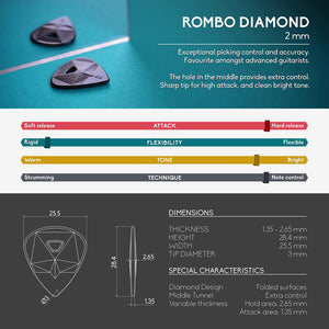 guitar pick rombopicks diamond