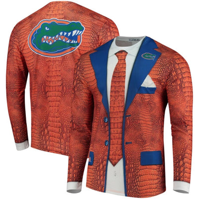 Florida Gators Faux Real Gator Skin Suit Long Sleeve T-Shirt