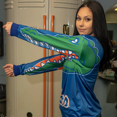 Gator-Chomp-Long-Sleeve-Dri-fit-Shirt-Blue