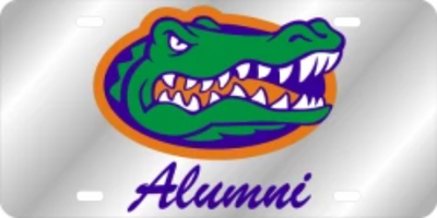Florida Gator Head Alumni License Plate