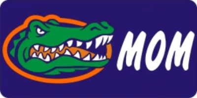 Florida Gator Head Mom License Plate