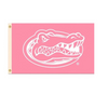 Florida Gators Pink Gator Head Flag