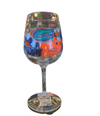 Florida Gators Polka Dot Wine Glass