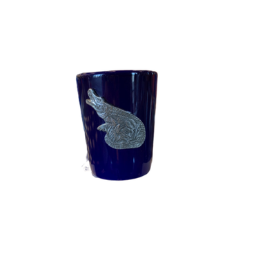 Florida Gators Shot Glass (w/ Pewter Alligator)