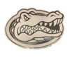 Florida Gators White Gator Head Vinyl Decal