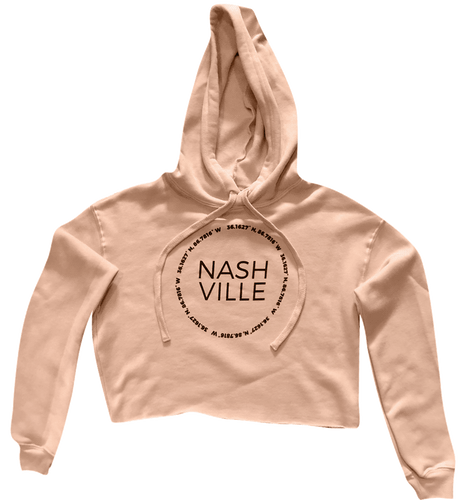 Nashville Coordinates Ladies Crop Fleece Hoodie
