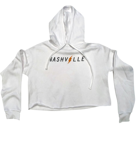 Nashville Bolt Ladies Crop Fleece Hoodie