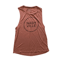 Load image into Gallery viewer, Nashville Coordinates Ladies Flowy Scoop Muscle Tank