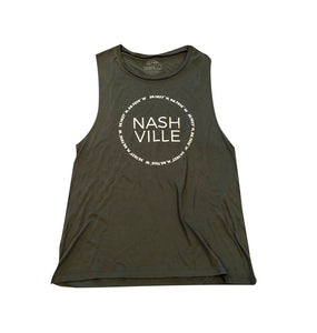 Nashville Coordinates Ladies Flowy Scoop Muscle Tank
