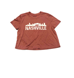 Nashville Skyline Ladies Crop Tee