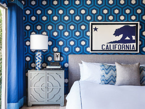 cole and sons wall paper hicks grand bedroom scene