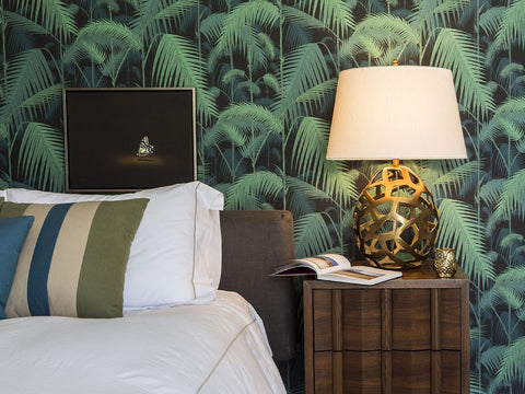 Cole and Sons Palm Jungle green and black wallpaper