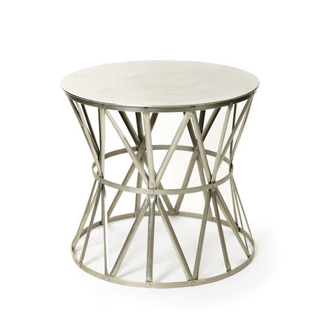 Angle Polished Nickel Side Table