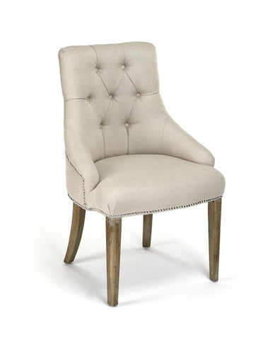 Anneau Dining Chair - Natural linen