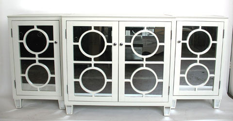 Ava White Mirrored Buffet - Worlds Away