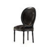 Medallion Black Cowhide Side Chair