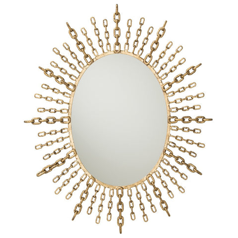 Chain Oval Mirror