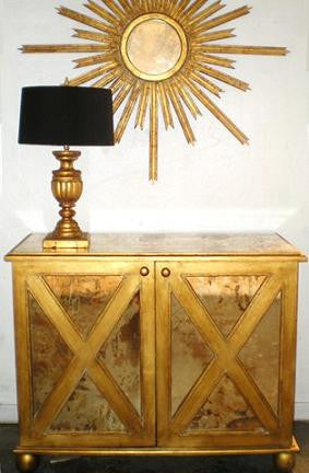 Clayborn Gold Cabinet - Worlds Away