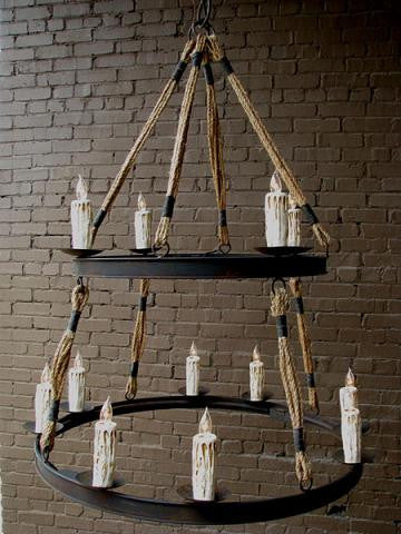 Cordiff Rope Chandelier
