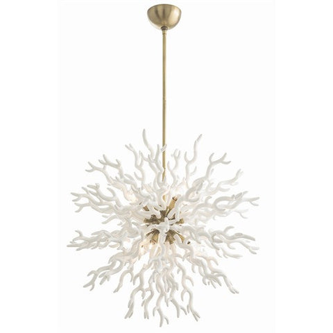 Diallo Coral Chandelier - White