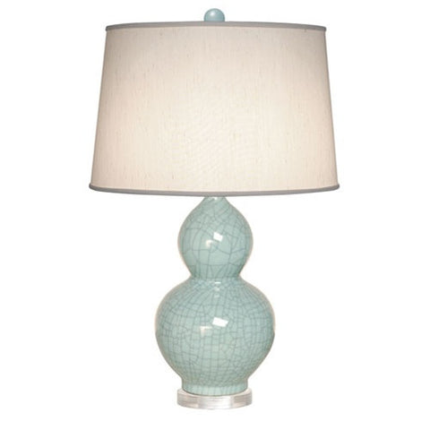 Gourd Ceramic Table Lamp with Lucite Base