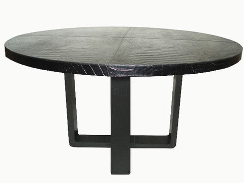 Italian Leather Dining Table - Serge de Troyer