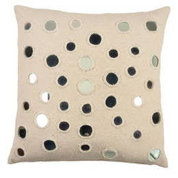 Sheesha Ivory Linen Throw Pillow - John Robshaw