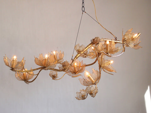 Lotus Gold Chandelier