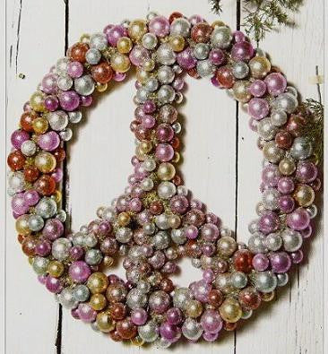 Peace Sign Wreath -Giant size