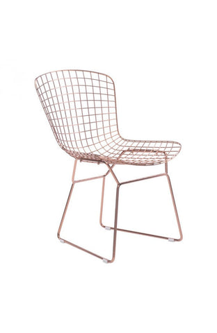 Wire Seating - Chair, Counter & Bar Stools - Rose Gold or Chrome