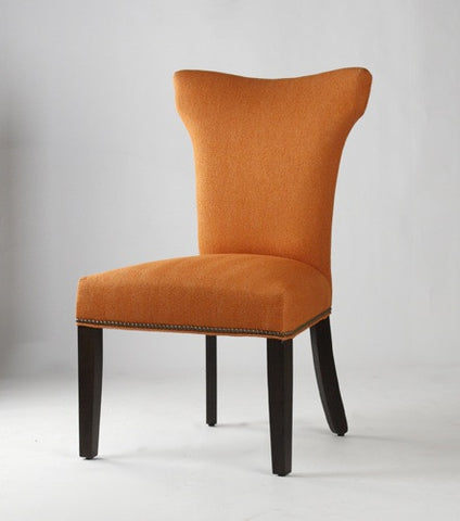 Cindy Dining Chair - Orange Upholstery