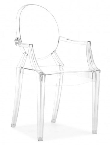 Anime Acrylic Dining Chair - Transparent  - Set of 4.