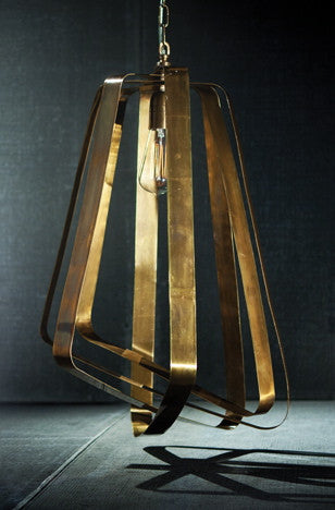 Adele Vintage Brass Pendant Light
