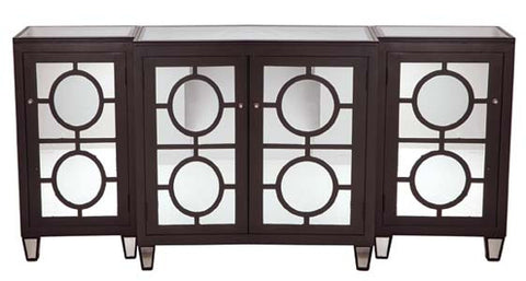 Ava Chocolate Mirrored Buffet - Worlds Away