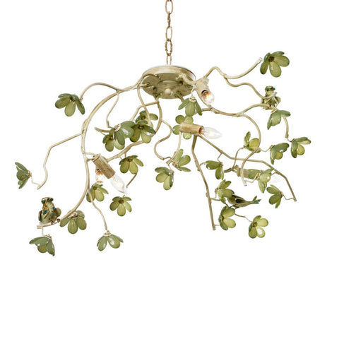 Bird & Blossom Jade Green Chandelier