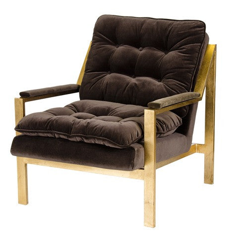 Cameron Velvet Chair - Gold Frame