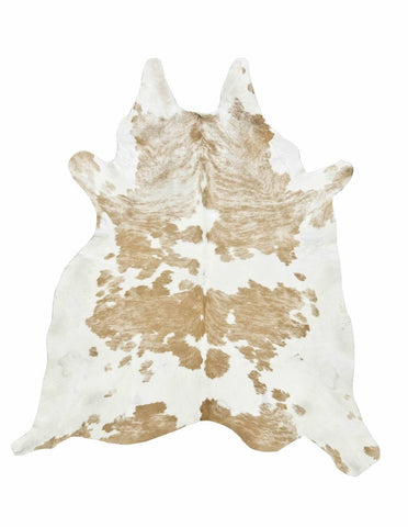 Cowhide Rug - Light Tan & White