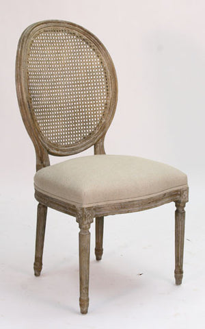 Medallion Cane Dining Chair