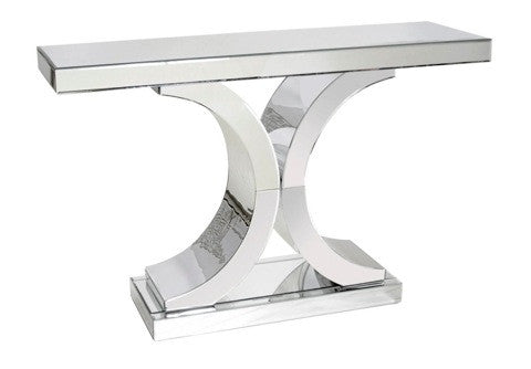 Double C Mirrored Console Table