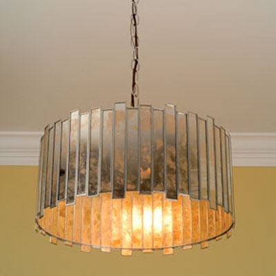 Faceted Mirrored Chandelier - Worlds Away