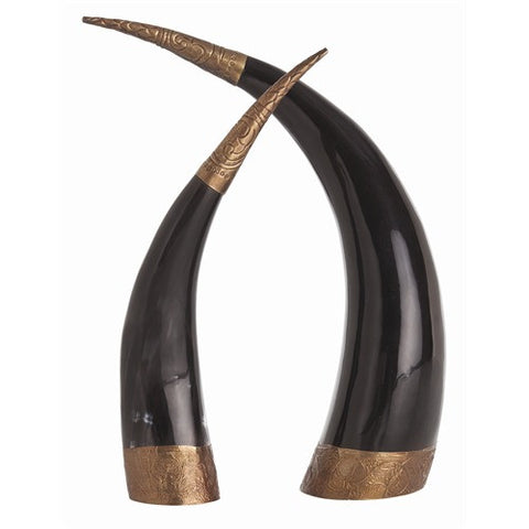 Diana Brass Horns -set of 2