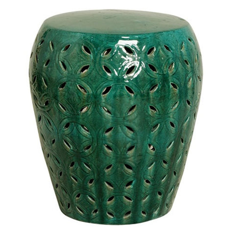 Lattice Garden Stool - Green