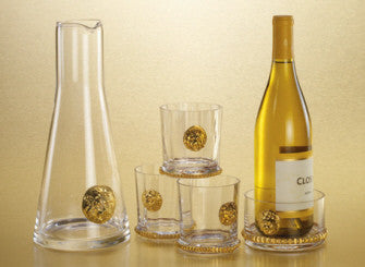 Lion Head Gold Trim Glassware